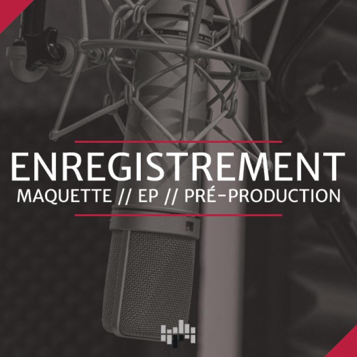 Offre enregistrement studio, maquette, ep, pré-production