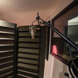 Cabine d'enregistrement studio A