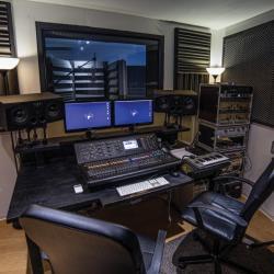 Régie d'enregistrement studio A